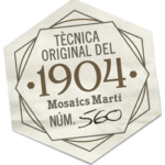 Hand crafted Quality stamp by an artisan from Mosaics Martí 1904